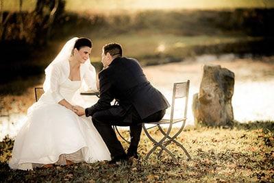 Idyllisches Hochzeitsfoto On-Location im Stadtpark Nürnberg