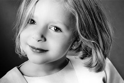 Bild eines schönen Mädchens