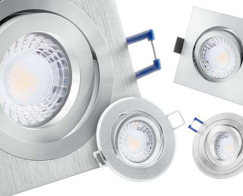 Produktfotografie von verschiedenen Lampen