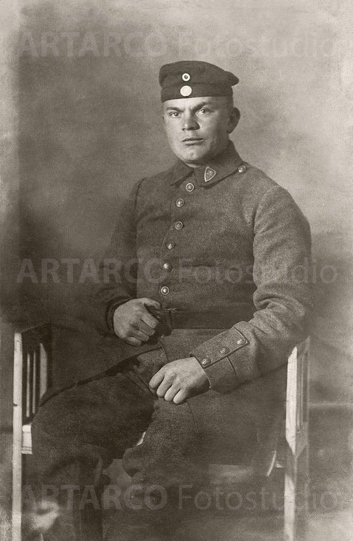 Soldatenbild restauriert